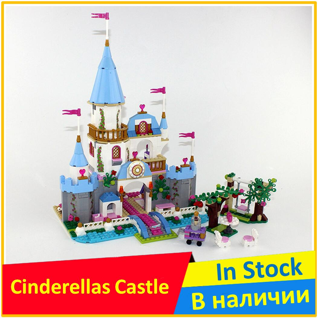 Pricess Cinderellas Romantic Castle 41055 Building Blocks Model 25006 Compatible legoing with Model Toys For Children