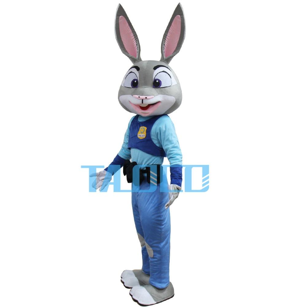 【SALE】NEW JUDY HOPPS RABBIT ZOOTOPIA MASCOT COSTUME ADULT SIZE PARTY DRESS