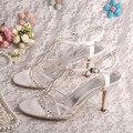 Wedopus Невесты Сандалии Свадебные Белые Туфли Высокое Качество Dropshipping