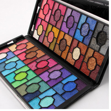 Miss Rose Professional Eyeshadow Beauty Glitter Matte 100 Color Eye Shadow Palette Eyes Lady Makeup Kit with Luxury Leather Case