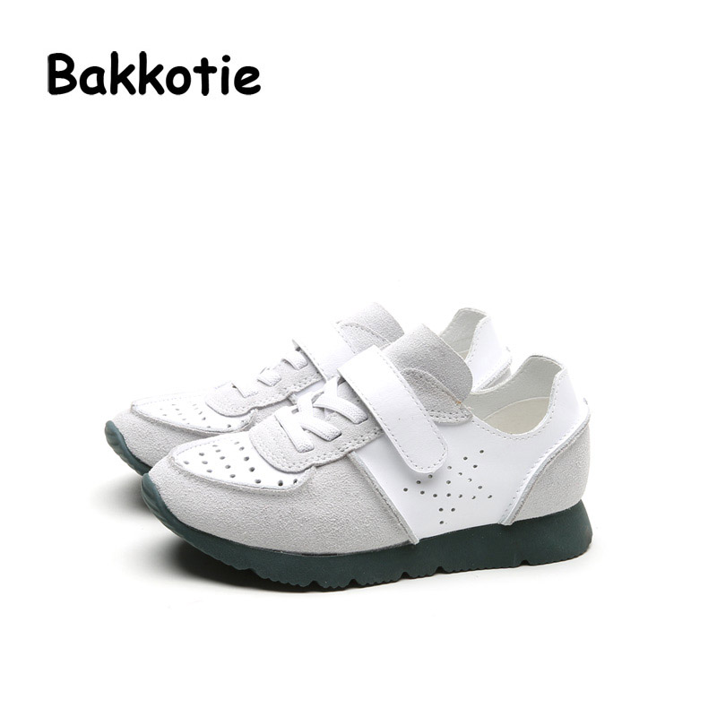 ФОТО Bakkotie 2017 New Fashion Girl Spring Baby Boy Casual Sport Shoe Kid Leisure Breathable Sneaker Children Hollow Genuine Leather