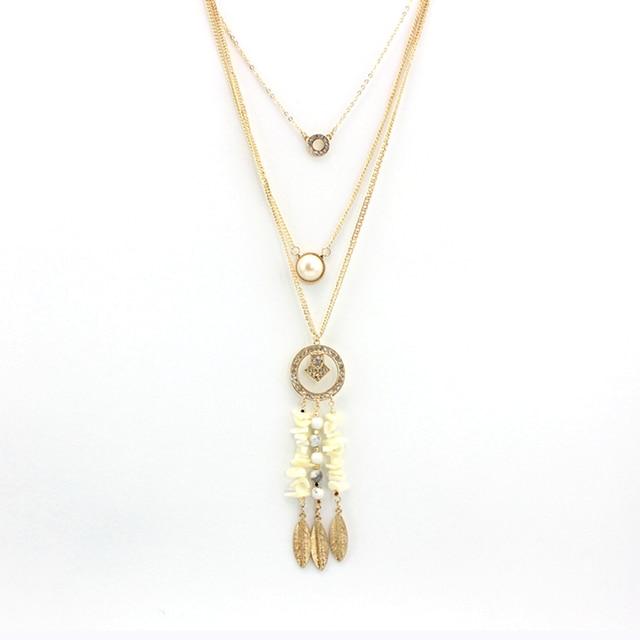 Женское многослойное ожерелье toucheart золотистого цвета с