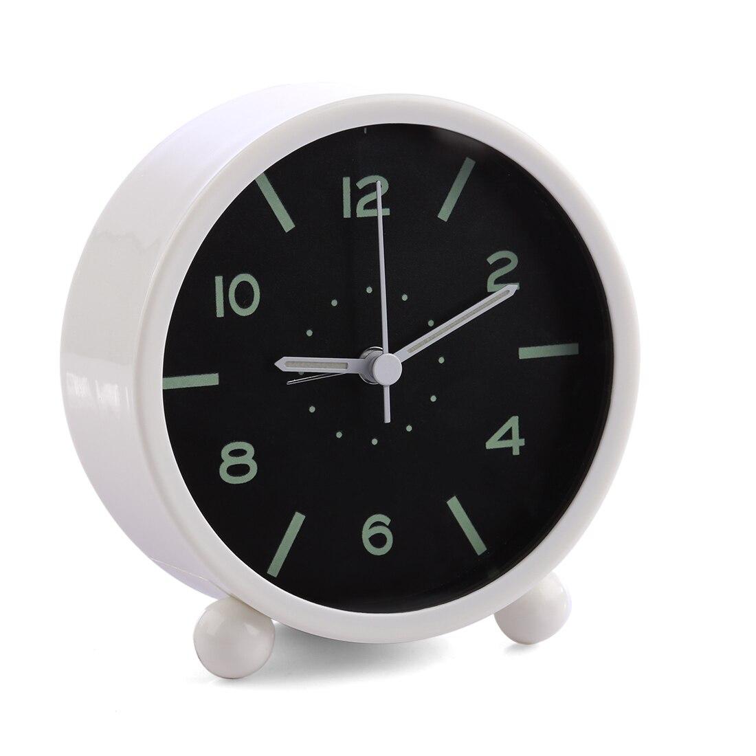 New Mini Luminous Mute Alarm Clock Round Desktop