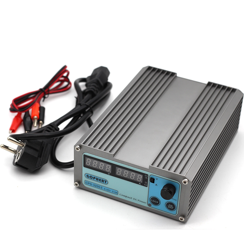 CPS 3205 3205II New Version Mini Adjustable Digital Switch DC Power Supply WATT With Lock Function