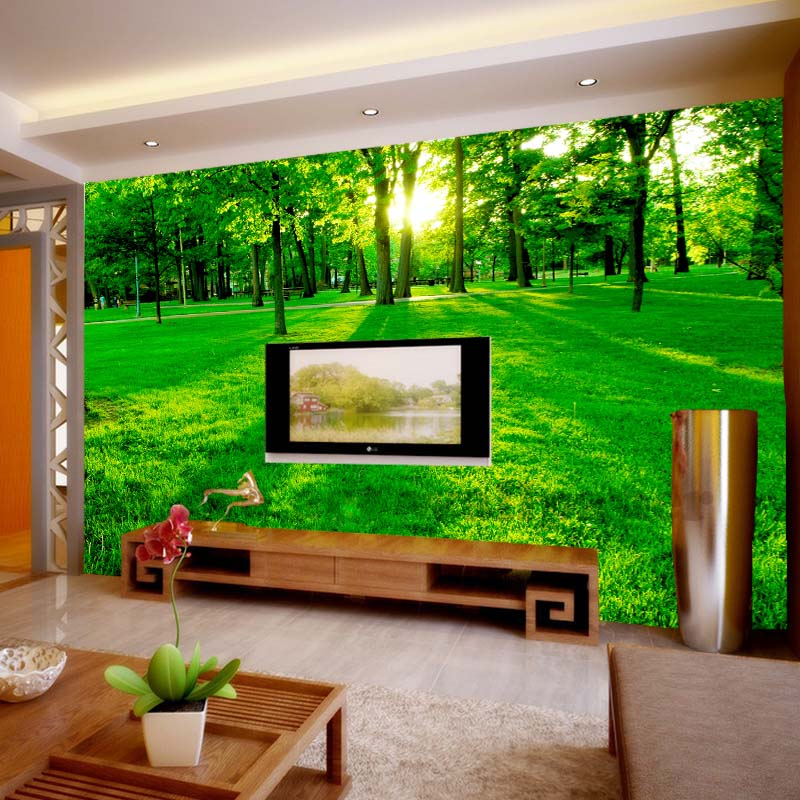 Custom photo wallpaper mural natural scenery chinese style for Custom photo mural