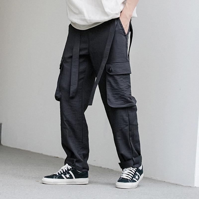 Verjüngen Clothig Größe 27 Lose Baumwolle Gerade Kostüme Plus Herren Einstellbar Neue Leinen Black Modische 44 Beiläufige Linie Kleid Männlichen Hosen 15PPqC
