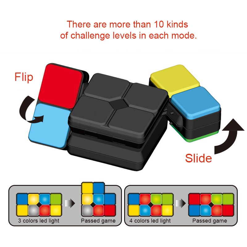 Musicmagic cube genuine children 39 s video game machine morphicsplicing puzzle matching magic cube boy and girl toys decompression in Magic Cubes from Toys amp Hobbies