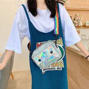 Laser Holographic Shoulder Messenger Handbags Women Plastic Crossbody Bags