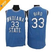 Larry Bird Jerseys Men Basketball Jersey 33 Indiana College High Quality Sleeveless Throwback Free Shipping