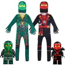 Ninjago בני תחפושות Ninja תלבושות המפלגה פנסי להתלבש ליל כל הקדושים תלבושות לילדים Ninjago סרבלי עם מסכה