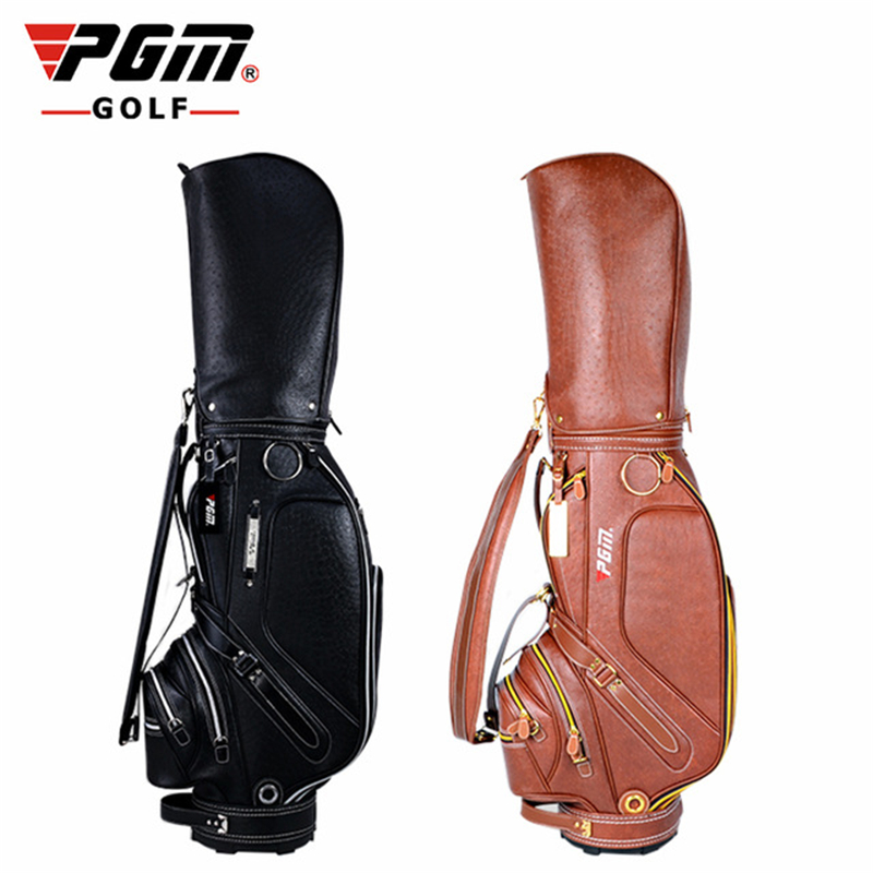 Pgm Golf PU Leather Bag For Men Standard Waterproof Golf Club Bag Practice Training Multifunctional Golf Equipments D0083 pgm golf club sand bar practice special digging rod stainless steel knife back design wholesale