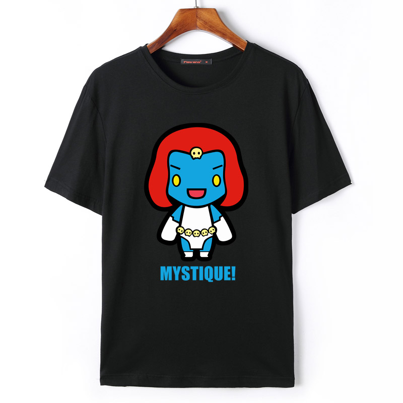 Flevans X-Men Print T-shirts Summer Short Sleeve T shirts Cyclops Nightcrawler Storm Magneto Mystique Jean Grey Psylocke Beast