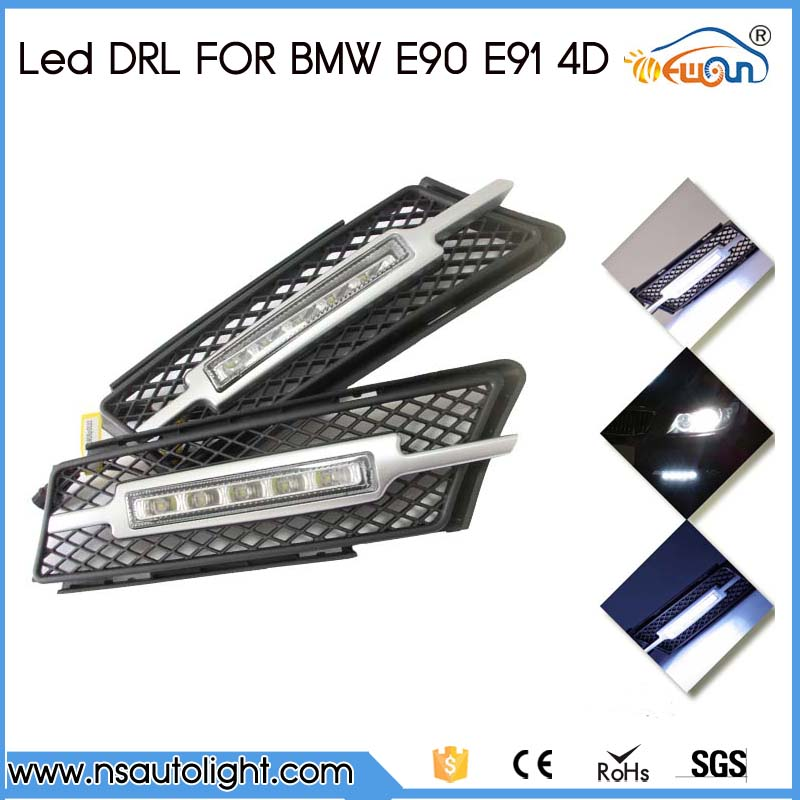 2pcs Car Accessories LED Lights DRL Daytime Running Light Auto Lamp For BMW E90 E91 4D 5D 2005-2008 Cars Day Running Light 2pcs set new design drl led daytime running lamp auto cob light 100% waterproof car accessories free shipping