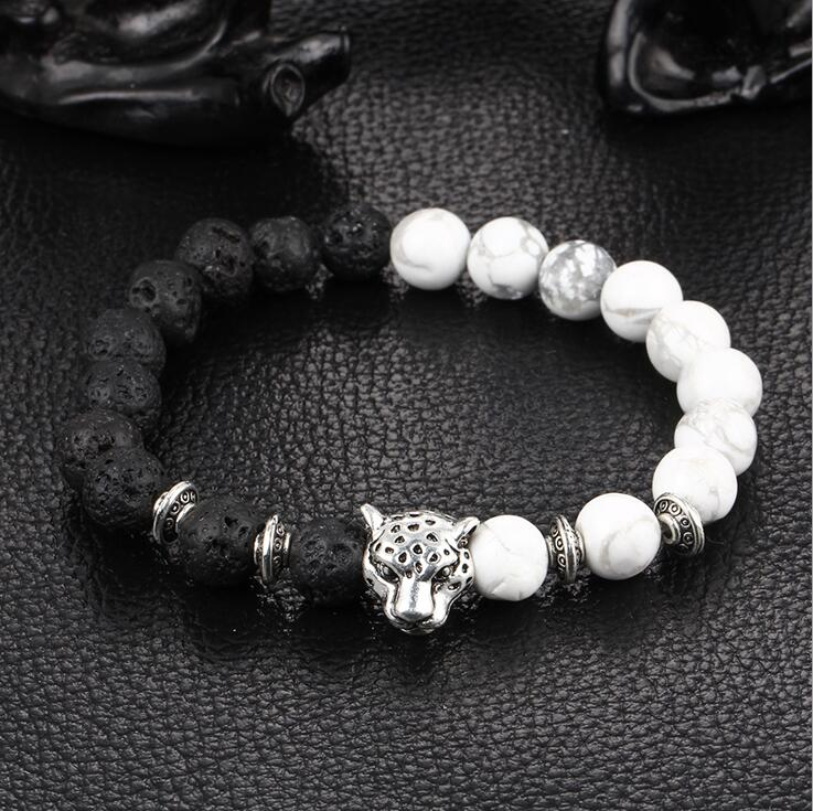 0f22041773 Detail Feedback Questions about BPPCCR weathering Lava stone 8mm Hand  string prayer beads silver Bracelets Leopard lion head Crystal Elasticity  Bracelet on ...