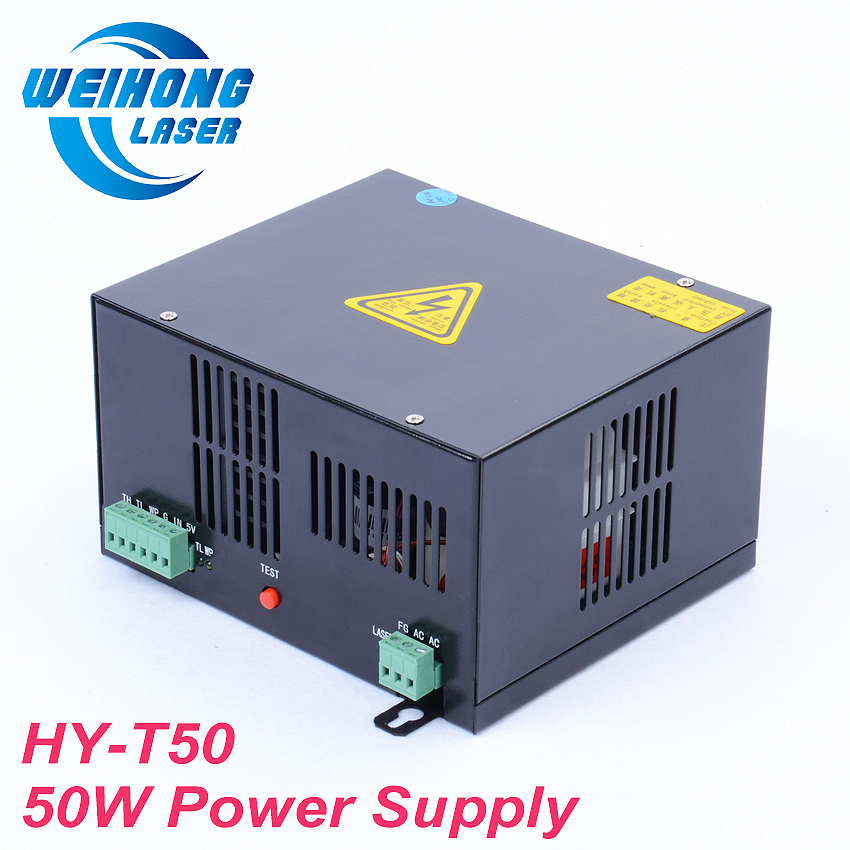 HY-T50 50W Co2 Laser Power Supply AC110V/220V for Co2 Laser Engraving and Cutting Machine co2 laser machine laser path size 1200 600mm 1200 800mm