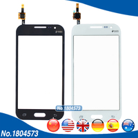For Samsung Core Prime G360 G360H Duos Touch Screen Digitizer Front Glass Panel Black Color 5PCS