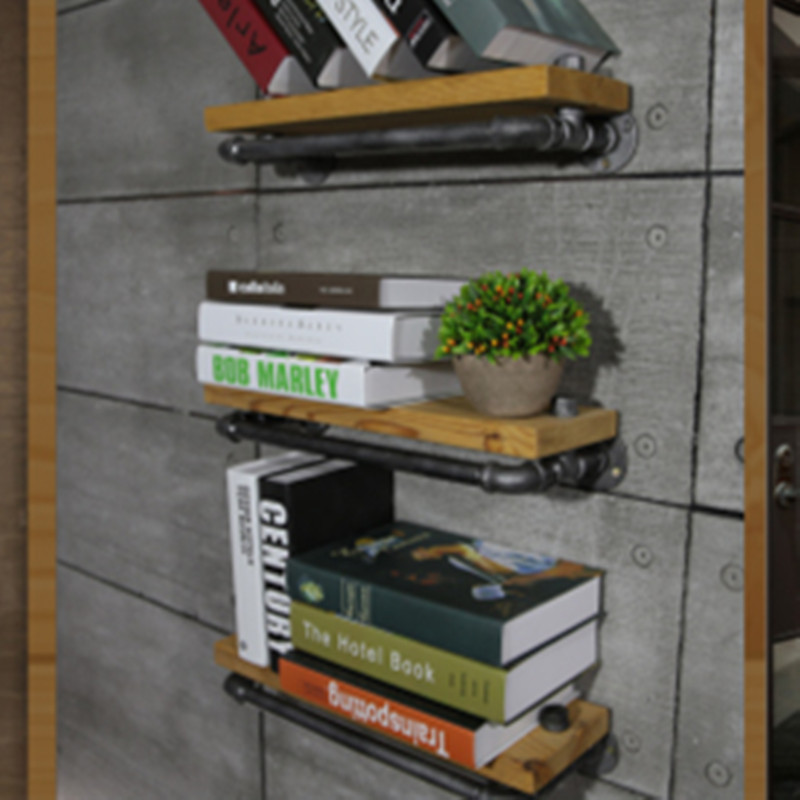 LOFT AMERICAN COUNTRY STYLE FURNITURE WROUGHT IRON WALL Three-Layer SHELF BOOKCASE SHELF EXHIBITION SHELF BATHROOM TOWEL RACK