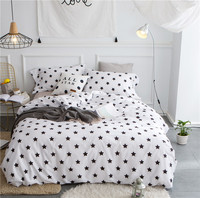 Star pattern Bedlinen Luxury bedclothes King Queen double size bedcover Doona duvet cover sheet pillowcase 4pc bedding set
