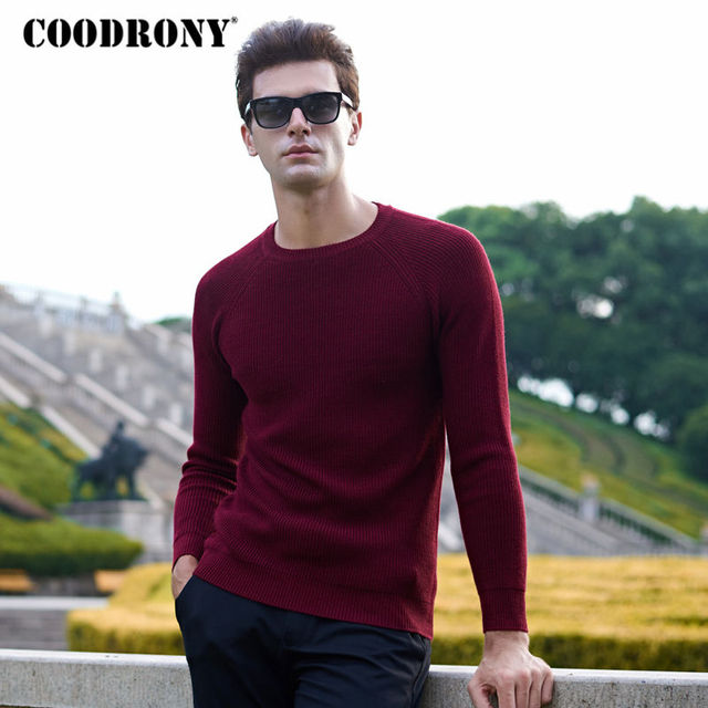 coodrony brand cotton sweaters thick warm pullover men winter christmas sweater men slim fit o - Christmas Sweaters Men