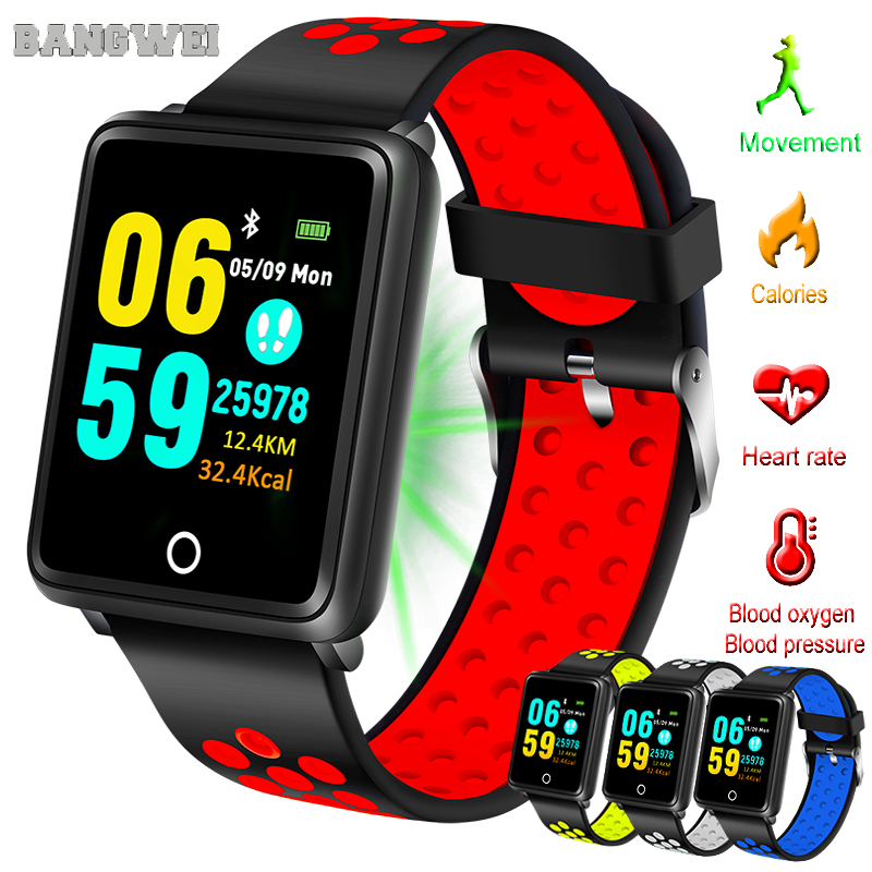 Digital Watches Bangwei Smart Watch Men Women Ip68 Waterproof Activity Tracker Fitness Tracker Smartwatch Clock For Android Iphone Ios Phone To Clear Out Annoyance And Quench Thirst