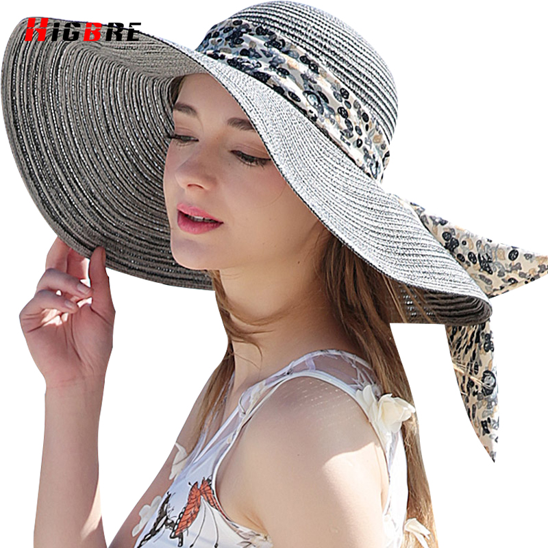 New Casual Fold Ladies Sun Hats UV Protection Straw Cap Sun Hat For Women  Summer Beach With Big Heads Chapeu Feminino De Praia-in Sun Hats from  Women s ... ef6ea84f6206