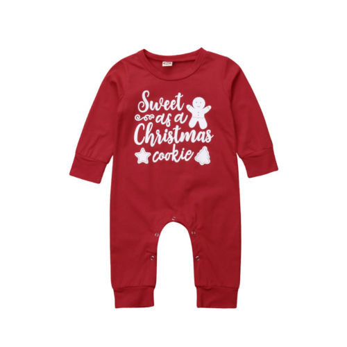 Christmas Newborn Baby Boys Girls New Letter   Romper   Fashion Long Sleeve Cartoon Snowman Jumpsuit Baby Casual Cotton   Rompers