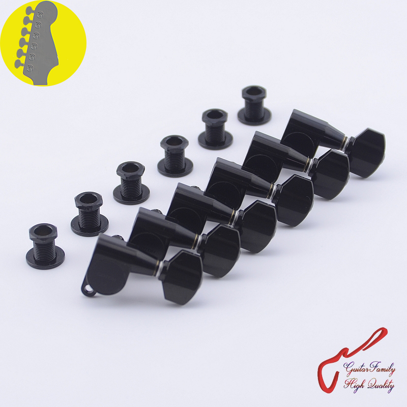 Original Genuine 6 In-line GOTOH SG360-07 Guitar Machine Heads Tuners ( Black ) MADE IN JAPAN wilkinson deluxe wj55s 6 in line machine heads tuners black new guitar parts