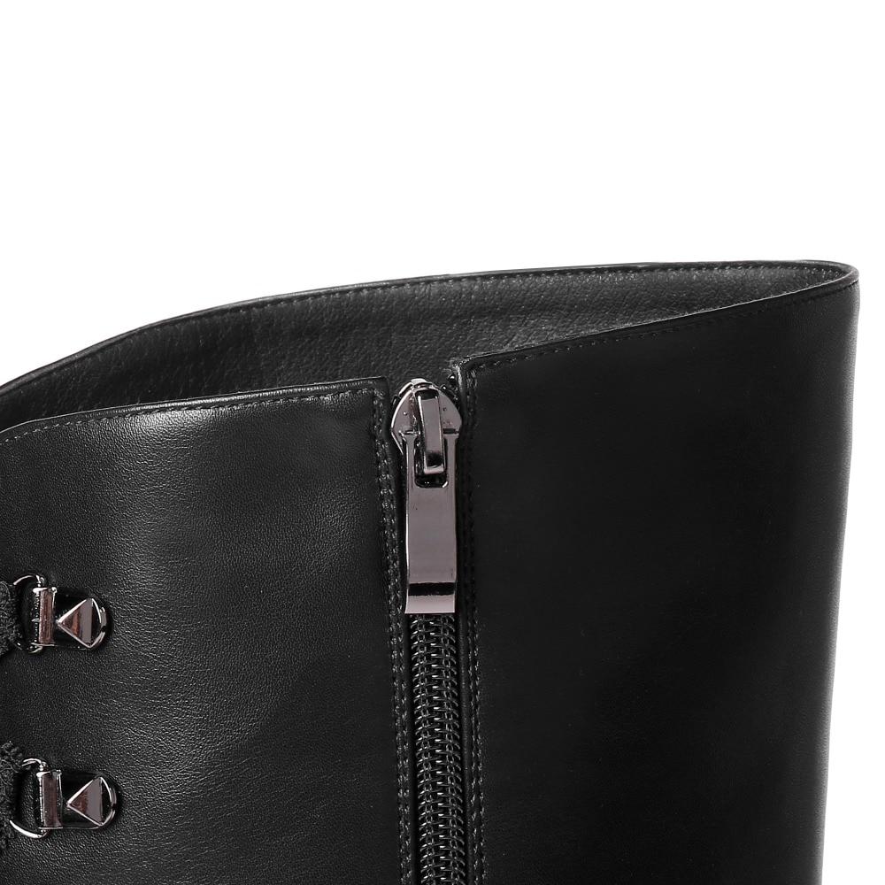 Qualité En Med Noir Genou Femmes Talon Chevalier Haute Bottes De Black Chaussures Hiver Chaudes Cuir Peluche Femelle Le Sur Véritable wqqPOt8TA