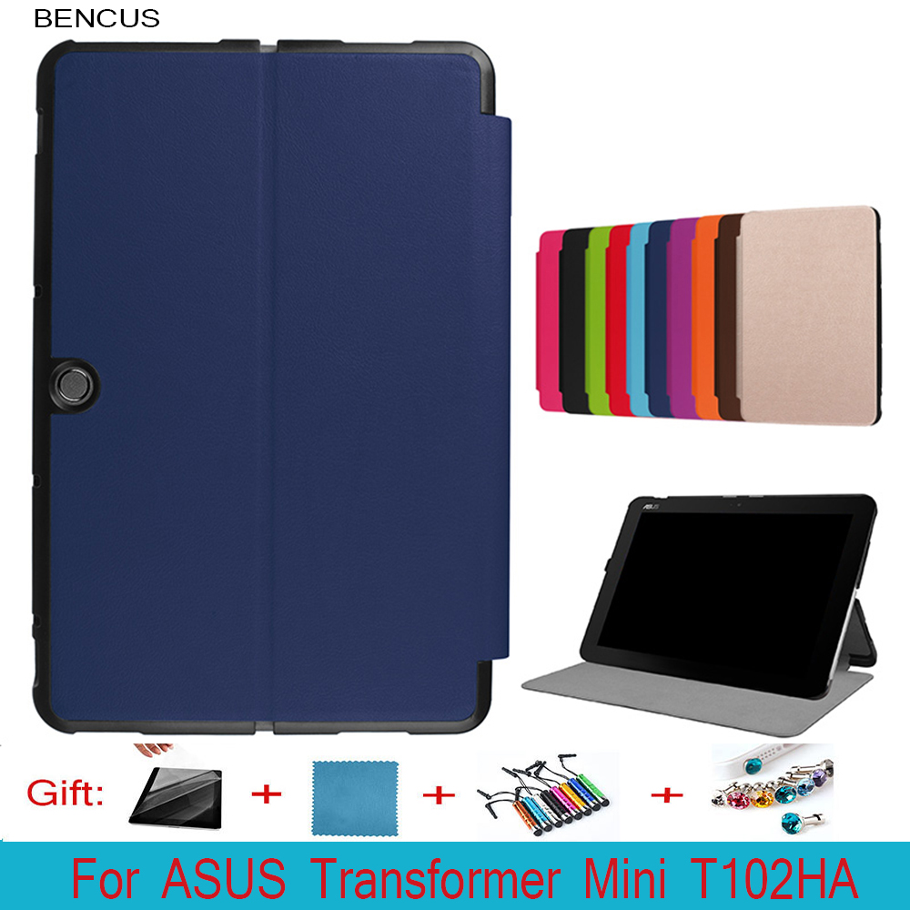 BENCUS Reliable Transformer Mini Slim Leather Case Keyboard Cover For Asus T102HA 10.1 Inch + Film +Pen
