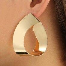 Fashion statement earrings 2018 Punk Geometric earrings For Women Big Dangle Earrings Drop modern art jewellery