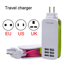 Free shipHigh Quality 6 Port USB AC Adapter US/EU/UK  Plug Wall Charger for iPhone 6/6S Plus for iPhone 7/7s 6S for iPad Pro 2/3