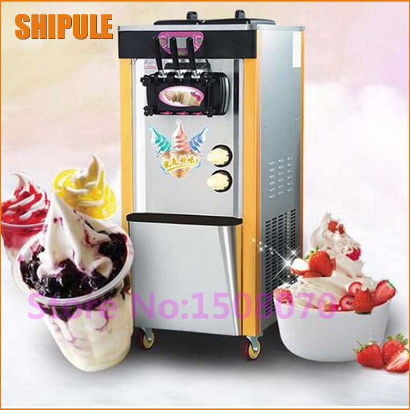 SHIPULE discount new stainless steel 28L/h vertical ice cream making machine soft icecream cone maker machine price as seen on tv discount commercial ice cream making machine soft icecream maker machine for sale