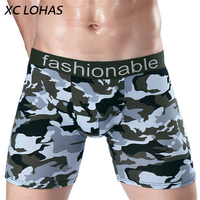 Fashion Quality Camouflage Long Leg Men Boxer Shorts Sexy Man Underwear Homewear Brand Boxer Cueca Calzoncillos