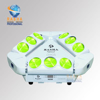 RASHA SHIP FROM USA 9leds*12W 4in1 RGBW Moving Head MINI LED Spider Light Stage Moving Head Beam LED Effect Light Tax Free