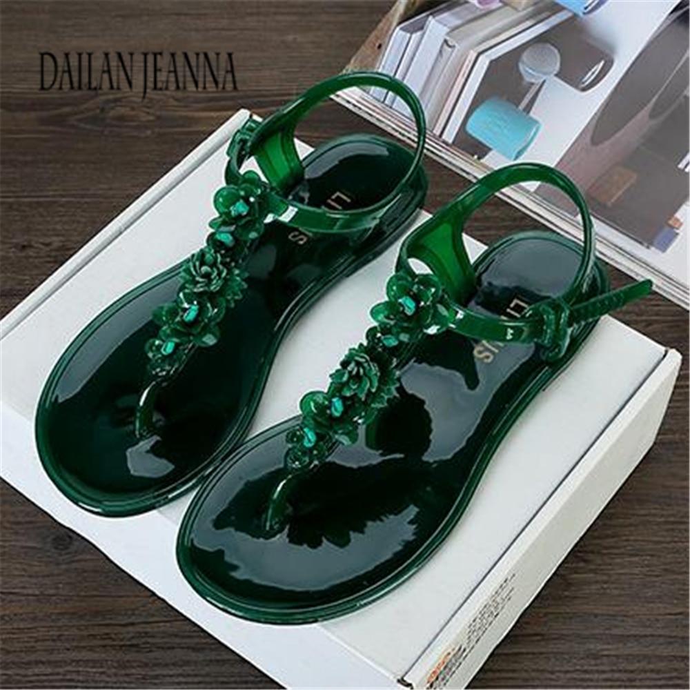 b89ef02896213a 2018 vintage bohemia rhinestone pinch flat sandals female flat heel sandals  t