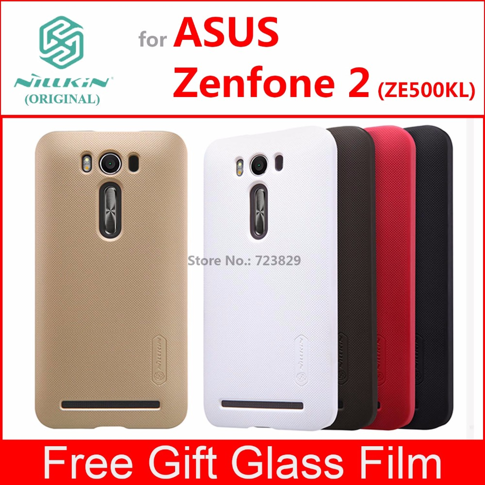 asus Zenfone 2 ZE500KL case cover Nillkin frosted case for asus Zenfone 2 ZE500KL ZE500KG with Glass Film