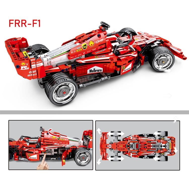 Decool 3335 Technic 1242pcs Large 1 10 F1 racing model educational building brick block children toys compatible legos 8674 in Blocks from Toys Hobbies