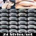 24 Pcs /Set Eyebrow Stencils Grooming Eyebrow Shaping Kit DIY Makeup Shaper Drawing Guide Card Set Template Tool NB149