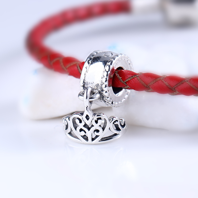 High Quality 100% 925 Sterling Silver Charms Fit Original Pandora Bracelet Snow Whites Tiara Charms Beads for Jewelry Making
