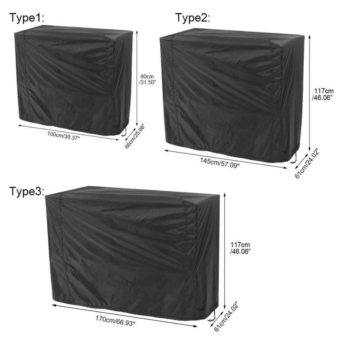 Waterproof Barbecue Cover Anti Dust Rain Cover 3 Sizes Garden Yard Grill Cover Protector for Outdoor BBQ Accessories Black