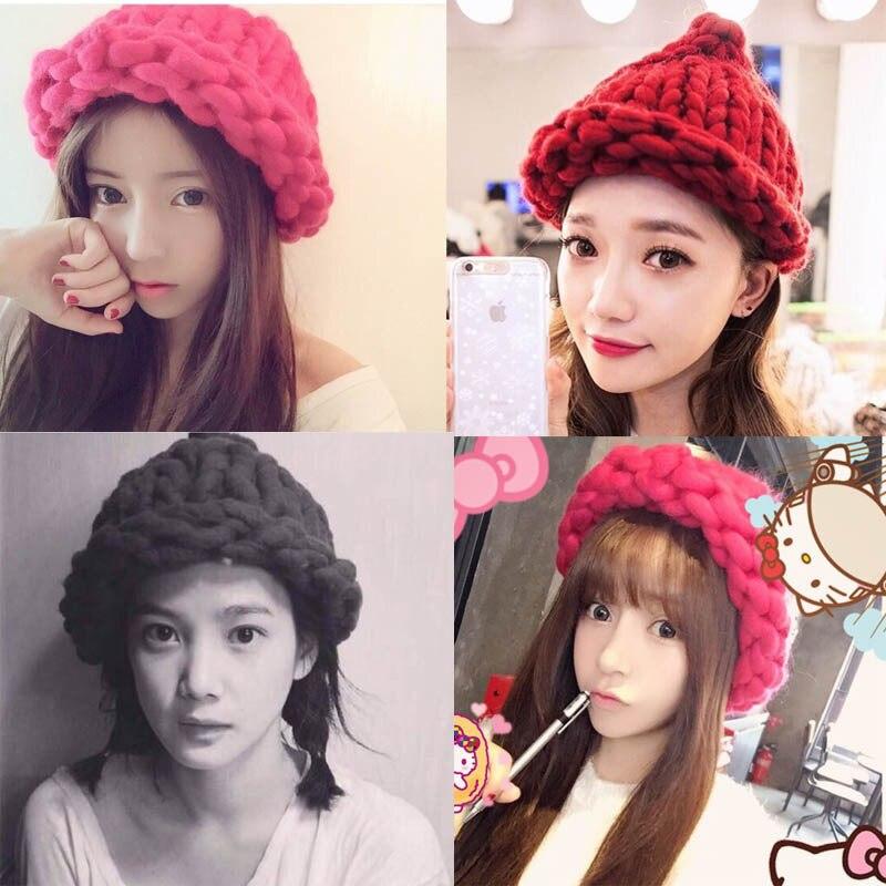 Women Lady Fashion 5 Colors Warm Winter Beret Braided Crochet Knitting Hat Girl Baggy Beanie Hat Ski Cap mb barbell 5кг