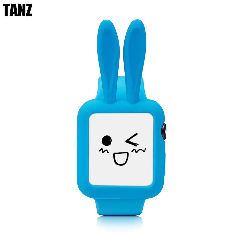 Cute cartoon Rabbit ears Soft Silicone protective for Apple Watch Case i Watch series 2 Colorful cover shell 38 42 mm 38mm 42mm