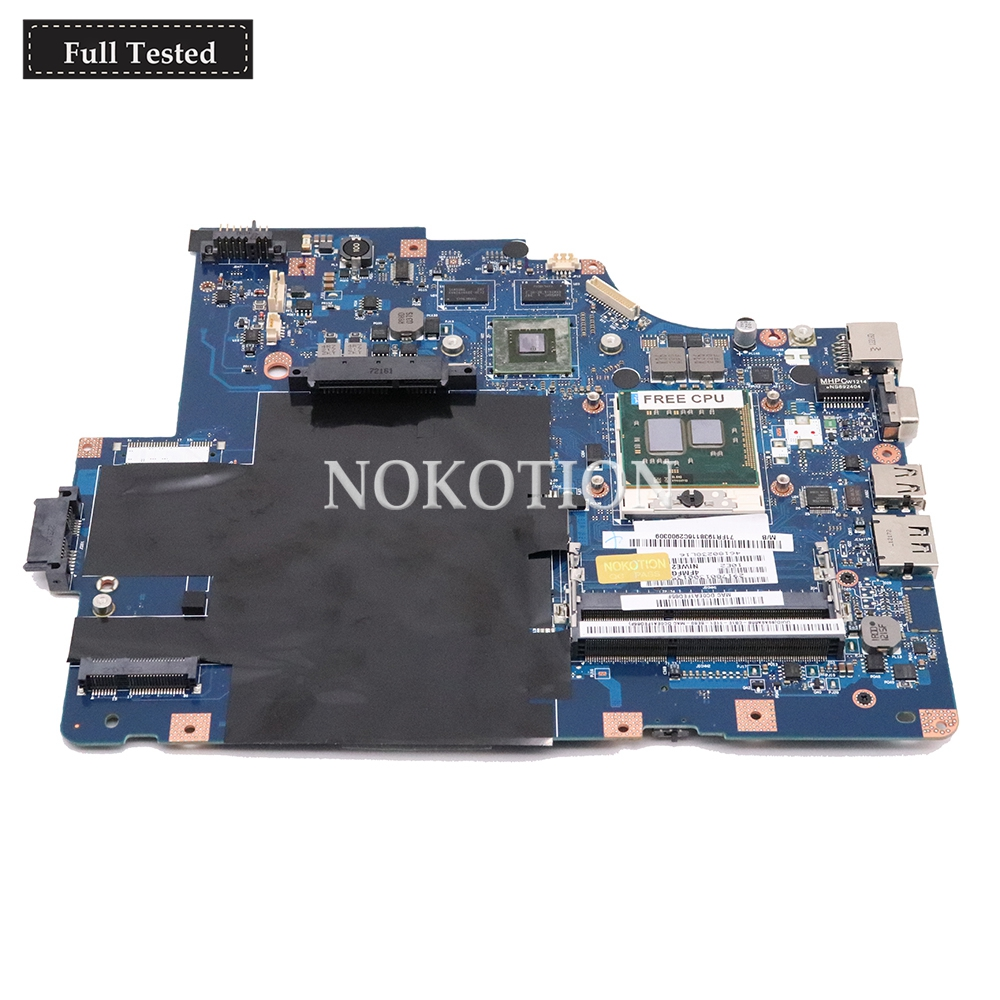 NOKOTION NIWE2 LA 5752P Main board For Lenovo Ideapad G560 laptop motherboard GT310M Graphics Free CPU