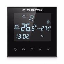 Floureon Сенсорный ЖК-Экран Термостат Теплый Пол Системы Отопления Терморегулятор AC200-240V Регулятор Температуры Голубой Подсветкой
