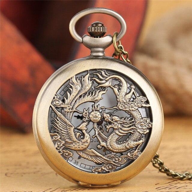 vintage chinesische flying dragon phoenix anh nger bronze. Black Bedroom Furniture Sets. Home Design Ideas