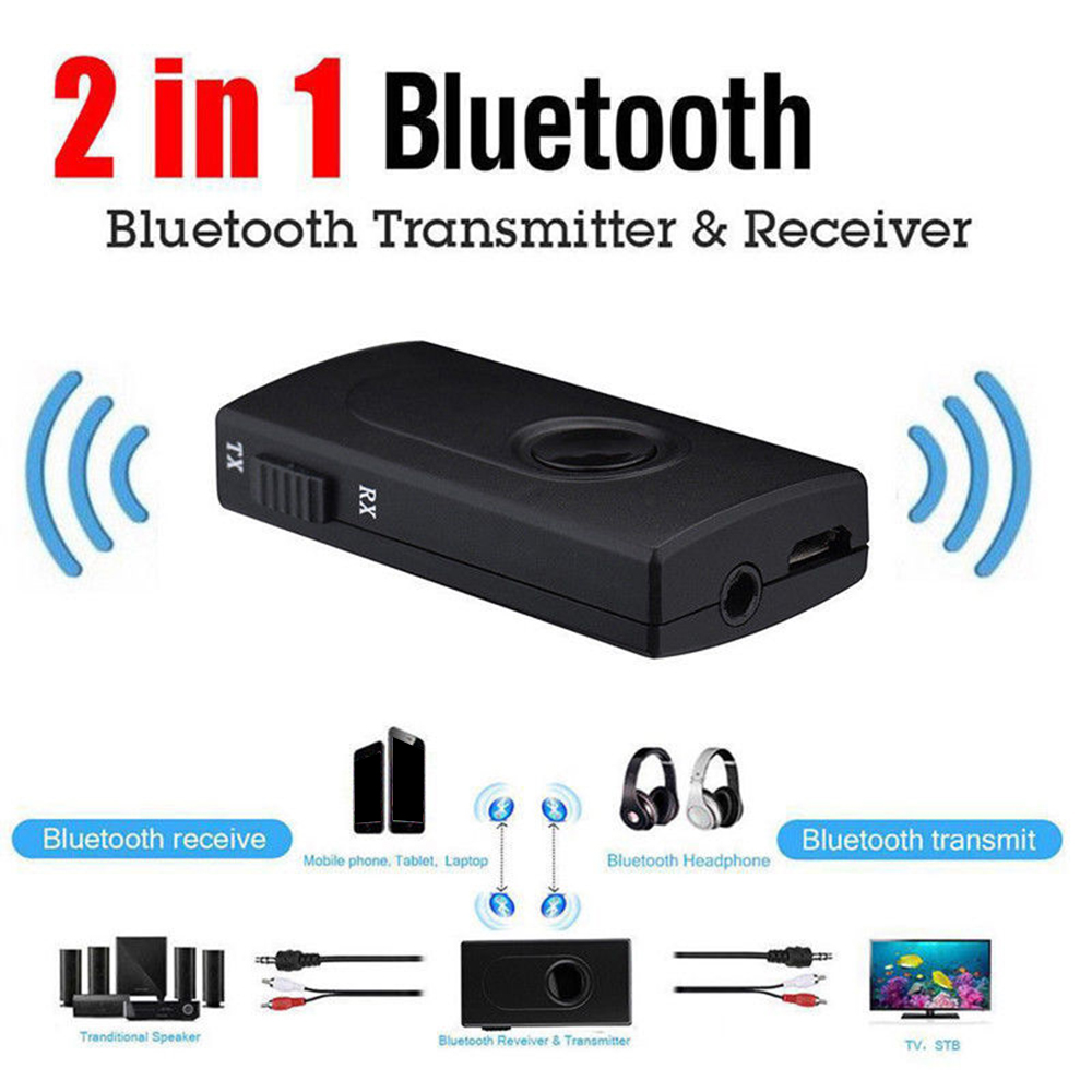 Wireless Bluetooth Audio Transmitter Receiver 3.5MM RCA Music 2 in1 Adapter US