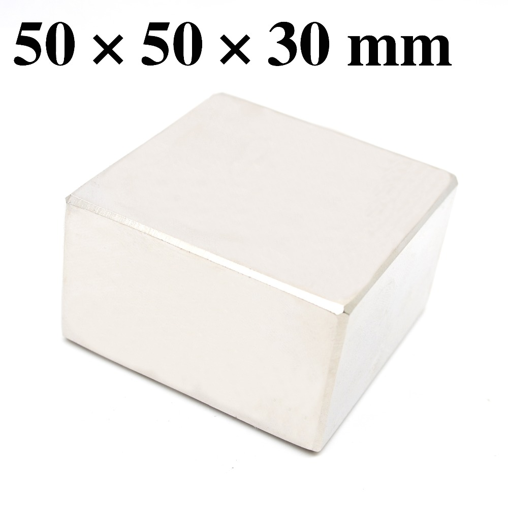 HYSAMTA N52 1PCS Block 50x50x30 mm Super Strong Rare Earth magnets Neodymium Magnet 50*50*30 mm 50x50x30mmHYSAMTA N52 1PCS Block 50x50x30 mm Super Strong Rare Earth magnets Neodymium Magnet 50*50*30 mm 50x50x30mm