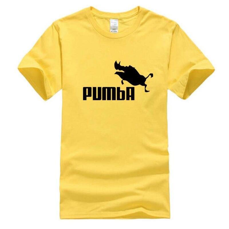 2016 new brand PUMBA Lion King t-shirt cotton tops tees men short sleeve boy casual homme tshirt t shirt plus fashion