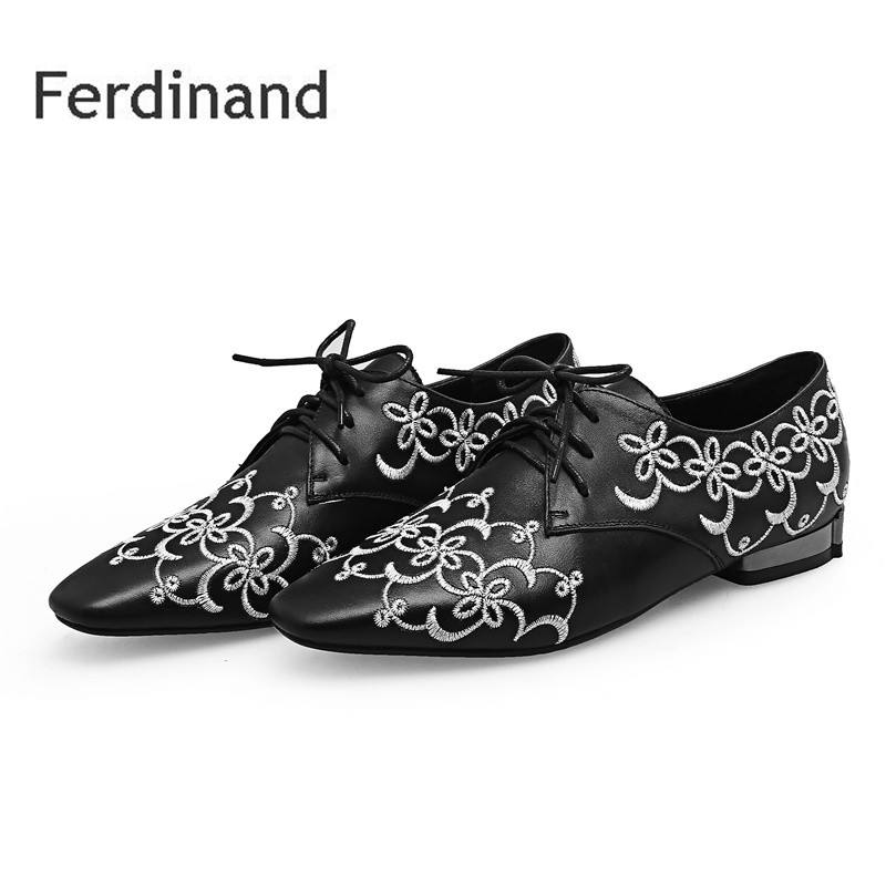 Fashion Genuine leather Women shoes Embroider Mixed color Black Ankle boots Spring Autumn Casual Ladies shoes Pointed toe women black shoes sheepskin genuine leather women shoes suede pointed toe rivet solid color buckle ladies causal ankle boots