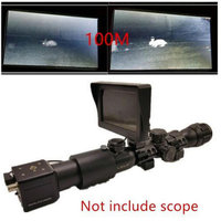 Hunting trail night vision with LCD Screen, Camera Monitor ,Mount Rings, Laser fill light Flashlight For Tactical Rifle scope